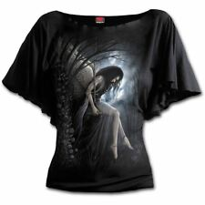 Spiral Direct Angel Lament Death Wings Graveyard Boatneck Top Tshirt