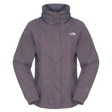 The North Face Resolve Jacket Damen Outdoor Regenjacke greystone blue-pink