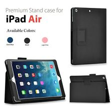 Folio Holder Stand Genuine PU Leather Case Cover for Apple iPad Air 5