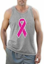 Breast Cancer Awareness - Distressed Pink Ribbon Singlet Fight Cancer