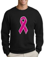Breast Cancer Awareness - Distressed Pink Ribbon Sweatshirt Fight Cancer