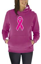 Breast Cancer Awareness - Distressed Pink Ribbon Women Hoodie Fight Cancer
