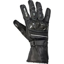 Richa Traction Leather Waterproof Armoured Motorbike Motorcycle Gloves - Black