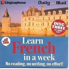 TALKING BOOK = LINGUAPHONE LEARN FRENCH IN A WEEK  DISC FOUR = PROMO VGC