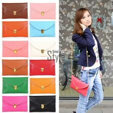New Fashion Women's Chain Envelope Purse Clutch Synthetic Leather Handbag TXST