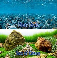 "Seaview RiverRock/Sea of Green 18"" Aquarium Double-sided Background BGAQ3-18"