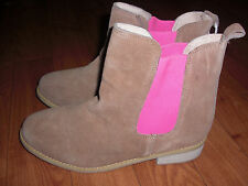 BNWT GIRLS LADIES JOULES TAN SUEDE CHELSEA BOOTS SIZE 5.LAST PAIR !!!RRP £44.95
