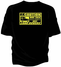 'Caution' classic car t-shirt - 'May Talk Endlessly About...Landrover Land Rover