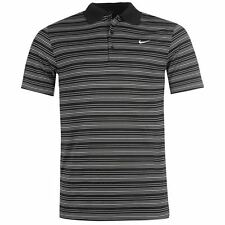 MENS OFFICIAL NIKE STRIPED GOLF POLO SHIRT TOP SIZES S-2XL COMFORTABLE DRI-FIT