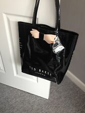 TED BAKER BLACK BOW IKON LARGE SHOPPER TOTE GRAB SHOULDER BAG