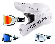 Oneal 3series CASCO flat blanco con two-x Carrera Gafas CROSS MOTOCROSS ENDURO