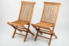 2 x Garden Chair Garden Furniture Garden Chair Teak Wood Folding chair Set new
