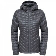 The North Face Damen Thermoball Hoodie Winterjacke Rabbit Grey