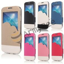FLIP PU Leather Case Cover Smart Screen View For SAMSUNG GALAXY S4 S IV i9500