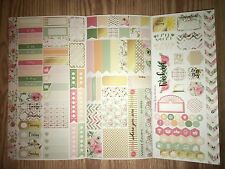 Rose Personal Planner Sticker Kit Tri Fold for All Planner Types
