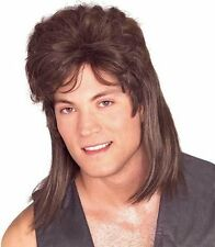 Adult Mens Mullet Wig for 70s 80s Fancy Dress Accessory