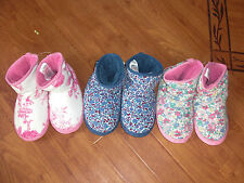 BNWT GIRLS LADIES JOULES POTTER FLORAL SLIPPERBOOTS SLIPPERS SZ S OR L.12-13,3-4