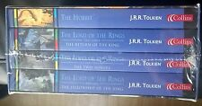 LORD OF RINGS TRILOGY & HOBBIT 4 BOOKS COLLINS TOLKIEN BOXED SET STILL SEALED