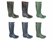 Woodland Pull On  Gusset Unisex Buckle Wellington Boots Olive Green