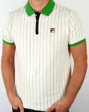 Fila Vintage Mk1 Settanta Polo Shirt in Gardenia & Green - BB1 Polo Borg Tennis