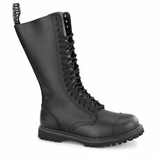 Grinders KING CS Unisex Mens Womens Leather Steel Toe Tall/Mid Calf Boots Black