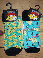 Ladies Girls Womens POKEMON Ankle Socks Trainer Liners Primark Licensed