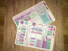 Rainbow Bokeh Personal Planner Stickers Kit for SewMuchCrafting Vertical