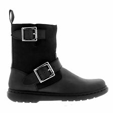Dr.Martens Gayle Fleece Oily Illusion  Black Womens Boots