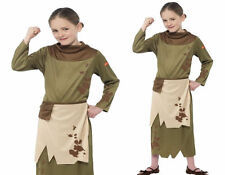Girls Victorian Peasant Costume Historical Poor Urchin Girls Fancy Dress Ages 7