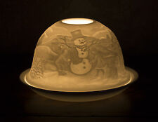 Porcelain Glow Dome T Light Christmas Tealight Candle Holder Choice of Designs