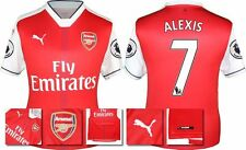 *16 / 17 - PUMA ; ARSENAL HOME SHIRT SS + PATCHES / ALEXIS 7 = SIZE*