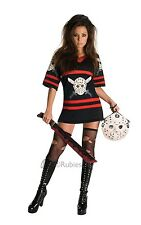Miss Voorhees Jason Friday 13th Halloween Fancy Dress Costume Outfit Size 8 - 18