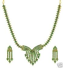 REAL GEMSTONE EMERALD NECKLACE & EARRINGS + A FREE GIFT