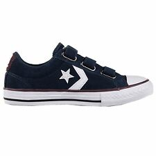 Converse Star Player EV 3 Velcro Ox Navy Kids Trainers