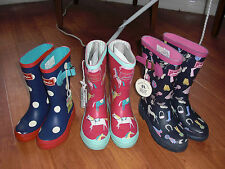 BNWT GIRLS JOULES WELLIES WELLINGTONS DOT PONY HORSE MIX 8,10,11,12,13,1,2 OR 4.