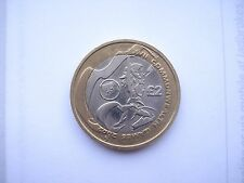 £2 two pound coin 2002 Commonwealth Games - Welsh Flag RARE COLLECTABLE vgc