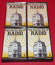 THE GOLDEN AGE OF RADIO * Set Of 4 Audio Music Cassettes *