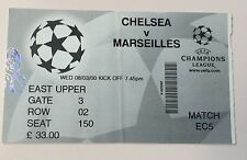 billet ticket Foot CHAMPIONS LEAGUE 2000 : CHELSEA - OLYMPIQUE MARSEILLE OM