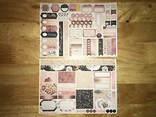 Rose Gold Personal Planner Stickers Kit for SewMuchCrafting Vertical Personal