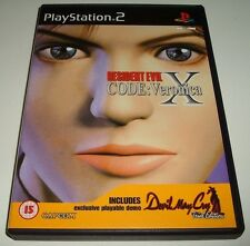 ** RESIDENT EVIL ** CODE VERONICA X ** Playstation 2/PS2 Zombie Game + DEMO DISC