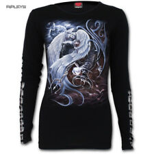 SPIRAL DIRECT Ladies Black Goth YIN YANG ANGEL Buckle Long Sleeve All Sizes