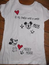Primark Ladies DISNEY MICKEY MOUSE T Shirt IT ALL STARTED WITH A MOUSE