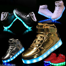 New Unisex LED Light up shoes Sportswear Sneakers Luminous High Top Casual Shoes