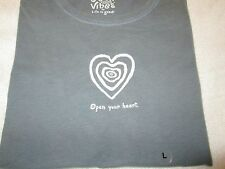 "LIFE IS GOOD  Women's Good Vibes Tee ""Open Your Heart"" Size S,M NWT@$30"