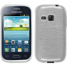 Custodia in Silicone Samsung Galaxy Young brushed bianco