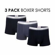 3 Multi Pack Mens Plain Boxer Pants Briefs Trunks Shorts Boys Underwear Boxers