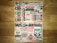 Blake Personal Planner Stickers Kit for SewMuchCrafting Vertical Personal Insert