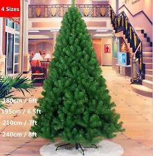 6-8Ft Artificial Christmas Tree Green with Metal Stand Xmas Decoration US