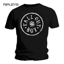 Official T Shirt FALL OUT BOY Black ROSE STAMP Logo All Sizes