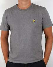 Lyle and Scott T-shirt in Mid Grey Marl - short sleeve cotton crew neck